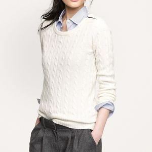 🆕 J.Crew Cambridge cable knit sweater